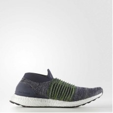 Adidas Ultraboost Laceless Running Shoes Mens Legend Ink/Vapour Grey S80771