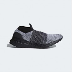 Adidas Ultraboost Laceless Running Shoes Mens Core Black/White BB6137