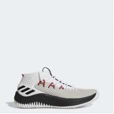 Adidas Dame 4 Basketball Shoes Mens White/Core Black/Scarlet BY3759