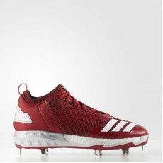 Adidas Boost Icon 3 Cleats Baseball Shoes Mens Power Red/White/Metallic Silver B39168