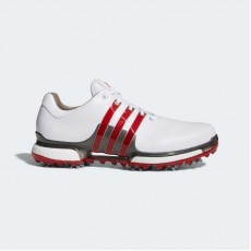 Adidas Tour 360 Boost 2.0 Golf Shoes Mens White/Scarlet F33625