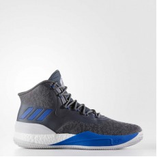 Adidas D Rose 8 Basketball Shoes Mens Grey/Blue Solid CQ1617