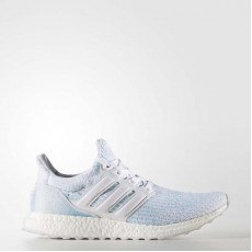 Adidas Ultraboost Parley Running Shoes Mens White/Icey Blue CP9685