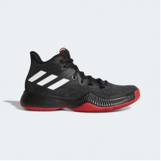Adidas Mad Bounce Basketball Shoes Kids Core Black/White/Scarlet DB0747