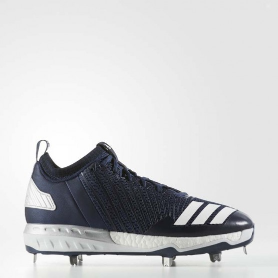 Adidas Boost Icon 3 Cleats Baseball Shoes Mens Collegiate Navy/White/Metallic Silver B39170