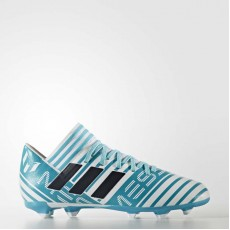 Adidas Nemeziz Messi 17.3 Firm Ground Cleats Soccer Cleats Kids White/Legend Ink/Energy Blue BY2411