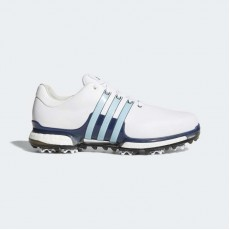 Adidas Tour 360 2.0 Wide Golf Shoes Mens White/Icey Blue/Mystery Ink Q44938