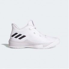 Adidas Rise Up 2 Basketball Shoes Kids White/Light Solid Grey/Core Black DB1671