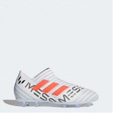 Adidas Nemeziz 17+ 360 Agility Firm Ground Cleats Soccer Cleats Kids White Ftw/Warning/Clear Grey BY2403