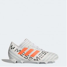 Adidas Nemeziz 17.1 Firm Ground Cleats Soccer Cleats Kids White/Warning/Clear Grey BY2408