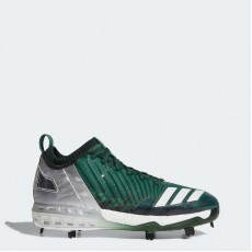 Adidas Boost Icon 3 Faded Cleats Baseball Shoes Mens Dark Green/Metallic Gold/Black BY3685