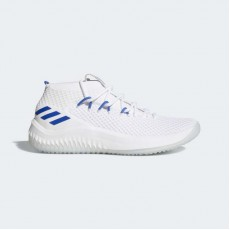 Adidas Dame 4 Basketball Shoes Mens White/Blue Solid AC8648