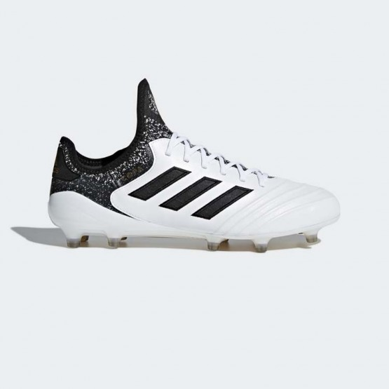 Adidas Copa 18.1 Firm Ground Cleats Soccer Cleats Mens White/Black/Tactile Gold Metallic BB6356