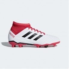 Adidas Predator 18.3 Firm Ground Cleats Soccer Cleats Kids White/Black CP9011