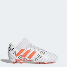 Adidas Nemeziz Messi 17.3 Firm Ground Cleats Soccer Cleats Kids White/Warning/Clear Grey BY2412