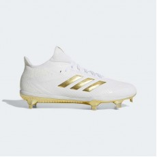Adidas Adizero Afterburner 4 Cleats Baseball Shoes Mens White Ftw/Metallic Gold BY3312