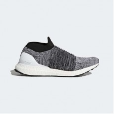Adidas Ultraboost Laceless Running Shoes Mens White/Core Black BB6141